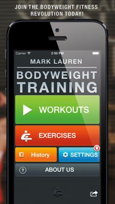 Mark Lauren's Bodyweight Training app just uses what God gave you to get you in shape. My favorite thing is you get to choose how long you want to workout. Only got 10 minutes to spare at lunch? Then just click and it'll provide you a workout that'll get your heart pumping and those calories a burnin'. | via TheBodyDepartment.com