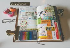 Travel Journal Setup in Midori Traveler's Notebooks, How to set up a Travel Journal, Journal With Me Ideas and Prompts, Trip Memory Keepsakes, Ephemera Customized Diary, Notebook Diy, Busa, Leather Stamps, Best Planners, Limousin, Hobonichi, Travel Memories, Ink Pads