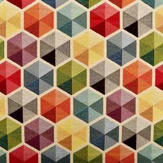 Funky Tapestry Fabric Multi 140cm - Upholstery - Curtain & Soft Furnishing Fabrics - Fabric  - Abakhan