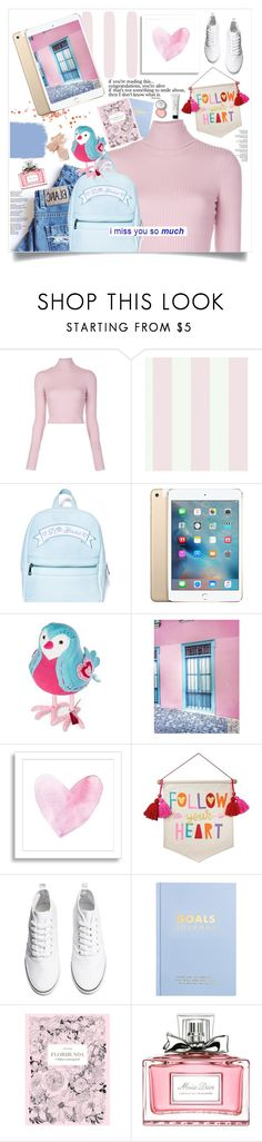 """""""missing y.o.u.!"""" by lseed87 ❤ liked on Polyvore featuring A.L.C., York Wallcoverings, Sugarbaby, West Elm, H&M, kikki.K, Chronicle Books, Christian Dior and Bobbi Brown Cosmetics"""