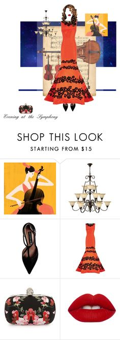 """""""Evening at the Symphony"""" by fernshadowstudio-com ❤ liked on Polyvore featuring Hinkley Lighting, Steve Madden, Oscar de la Renta, Alexander McQueen and Lime Crime"""