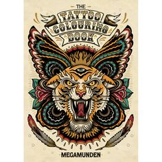 The Tattoo Colouring Book by Megamunden | Childrens Colouring Books | Cass Art