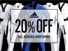 Gift of the week: Take 20% Off All Adidas Uniforms. Hurry, Going Fast!!  SALE Ends on Dec. 14, 2014  http://www.dynamicsworld.com/products/uniform/adidas-uniform.html