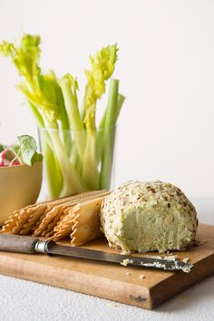 Swiss and Green Onion Cheese Ball recipe! amazing appetizer recipe idea. great with crackers or vegetables.