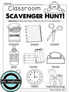 Back to School Printables – Kindergarten Literacy and Math. Classroom items sca… Back to School Printables – Kindergarten Literacy and Math. Kindergarten First Week, Preschool First Day, First Day Of School Activities, Kindergarten Classroom, Kindergarten Activities, Classroom Door, Kindergarten Orientation, Classroom Rules, Classroom Ideas