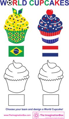 Get designing these yummy World Cupcakes in the style of your team's flag - a fun activity to help children explore pattern and color