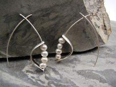 Christine L. Sundt Jewelry, Ballet (earrings),  cultured pearls, sterling silver