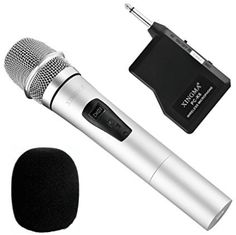 Wireless Handheld Microphone, Dynamic Cordless Vocal Microphone with Plug Receiver for Karaoke 80 Inch Tvs, Pa Speakers, Speaker Amplifier, Stage Equipment, 4k Photos, Look Good Feel Good, Mobile Technology, Karaoke, Plugs