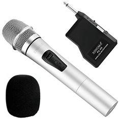 Wireless Handheld Microphone, Dynamic Cordless Vocal Microphone with Plug Receiver for Karaoke 80 Inch Tvs, Pa Speakers, Speaker Amplifier, 4k Photos, Dj Gear, Look Good Feel Good, Mobile Technology, Best Tv, Karaoke