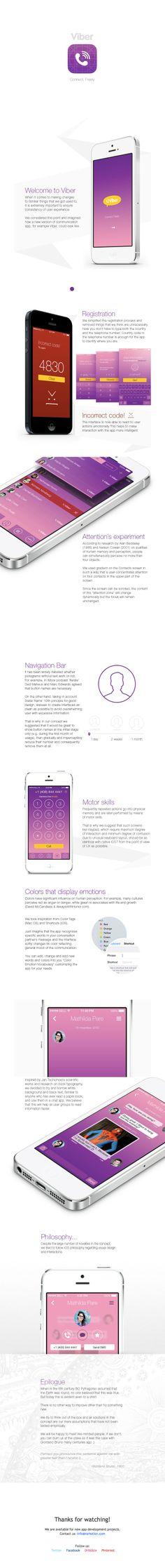 Viber iOS 7 Concept by Ramotion #iOS7 #mobile #UX #UI #GUI #flatdesign