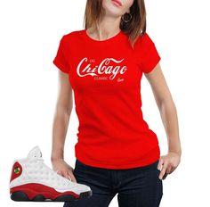 b5f5a8b2376d26 Woman s shirts match Jordan 13 OG true red shoes to match 13 s sneaker  colorway. True
