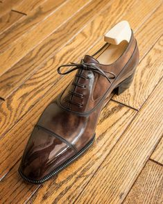 """I'm not perfect in my walk but I want to do the right thing."" -Kirk Cameron #yoheifukuda #bespokeshoes #heritage #collection #antique #patina #leather #style #photo #madeinjapan #tokyo #japan"