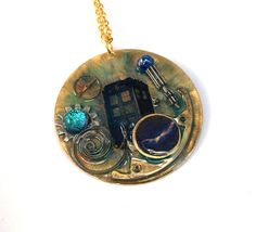 Doctor Who Necklace A Rift in Time by TimeMachineJewelry on Etsy