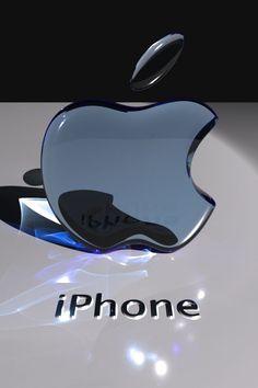 Transparent 3D Apple LOGO