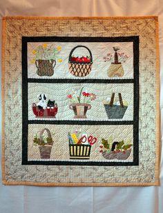 Quilt aux paniers by C.T ( Yoko Saito pattern )  Basket quilt