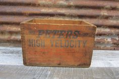 Antique Wooden Crate Peters Dupont Cartridge