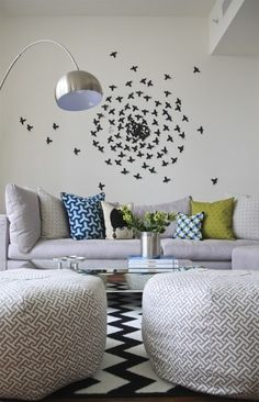POUF, LIVING ROOM, WALL DECOR, ACCENT PILLOWS http://media-cache3.pinterest.com/upload/8233211788654065_35dajLLd_f.jpg modernchichome living rooms