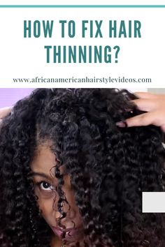 Info On Severe Hair Breakage And Thinning for natural curly hair. How to stop hair breakage naturally. Stop Hair Breakage, Curly Hair Styles, Natural Hair Styles, African American Hairstyles, I Love Books, Hair Videos, Textured Hair, Healthy Tips, Hair Growth