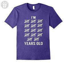 Mens I'm 70 Years Old Tally Mark Funny Birthday T-Shirt 70th Gift Medium Purple - Birthday shirts (*Amazon Partner-Link)