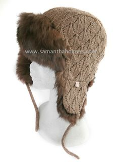 Alpaca Fur Trapper Hat. Perfect for cold climates, skiing holidays or winter trend-setters! By Samantha Holmes!