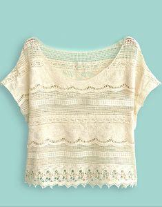Beige Batwing Sleeve Crochet Lace Crop Top -