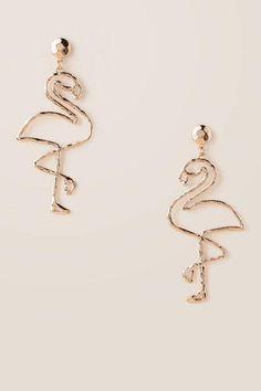 Francesca's Flamingo Drop Earring #ad #flamingoparty