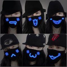 www.sanrense.com - Harajuku luminous mask
