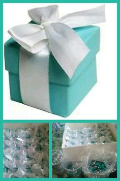 #wedding #favors #m&ms #personalized #Tiffanybox