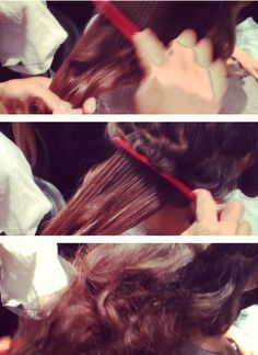 Post-curl set: comb, tease, fluff backstage from Jenny Packham show! #TRESmbfw #mbfw