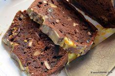 Banana bread chec cu banane si cacao. O prajitura frageda si umeda, deloc sfaramicioasa. Cu nuci, stafide, fructe confiate si glazura parfumata cu portocale Food Tasting, Loaf Cake, Eat Dessert First, Banana Bread Recipes, Cata, Healthy Sweets, Brownies, Cooking Recipes, Gluten