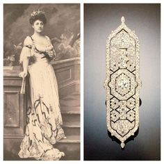 A Belle Époque diamond panel brooch, by Cartier, circa 1913, formerly in the collection of Mrs. Cornelius Vanderbilt III (née Grace Wilson). The wife of Commodore Cornelius Vanderbilt's great grandson, she became the queen of society after the death of Mrs. Astor in 1906.