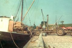 HAABET blev også brugt til at sejle korn fra Nyord til Stege. Foto udlånt af Jan Hansen.