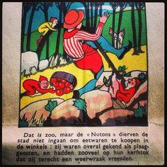 Belgian vintage comic strip Het Dwergenhol van Frêne (nabij Namen) // De Dwarf Hole of Frêne (Nearby Namur), Belgium