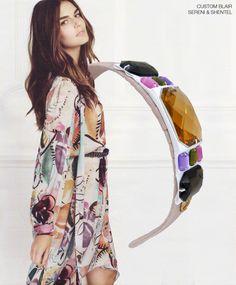 Headband inspired by Prints Princess in Fashion Cosmopolitan UK Autumn/Winter 2014