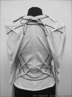 Creative Patternmaking - fashion design detail using draping & fabric manipulation to create shape & structure // Kei Kagami