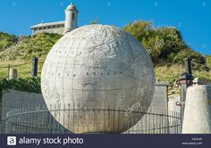 Download this stock image: A view of the great globe at Durlston Castle, Swanage, Dorset, UK. Taken on 2nd October 2015. - F4CF4P from Alamy's library of millions of high resolution stock photos, illustrations and vectors.