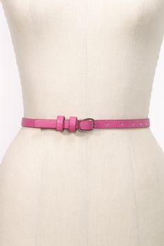 Pop Skinny Belt in Pink