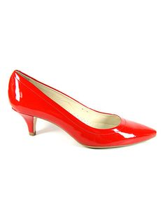 Take a look at this Red Lisa Pump by Comfort Maven on #zulily today!