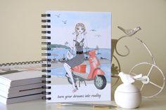South France illustrated notebook travel journal Brigitte | Etsy Arc Planner, Planner Inserts, Planner Pages, Happy Planner Cover, Mini Happy Planner, Juan Les Pins, Lined Notebook, Journalling, Filofax