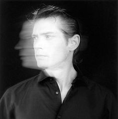 The Robert Mapplethorpe Foundation - Self Portraits.  Self Portrait, 1985. This picture is really interesting because it has a blurred picture behind a clear one, and it could represent someone who had a blurred past but now they have a clear view on their life