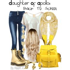Daughter Of Apollo Back to School Outfit, Cabin 7, Percy Jackson Inspired Outfit