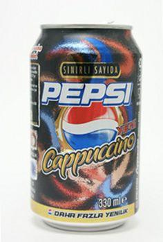 Sınırlı sayıdaki cappuccino aromalı Pepsi