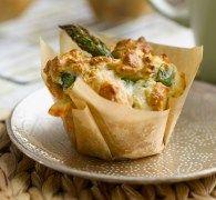 British asparagus & cheese brunch muffins