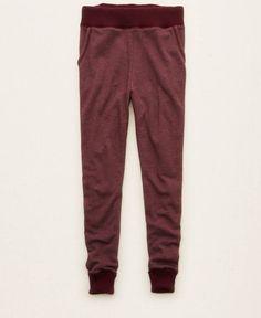 Aerie Sweater Trim Skinny Jogger (Jogging Pants), Women's, Deep Plum