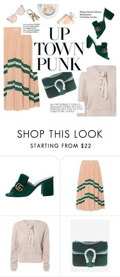 """""""Up town punk"""" by lux-life ❤ liked on Polyvore featuring Gucci, Valentino, Bela, Haute Hippie and Chloé"""