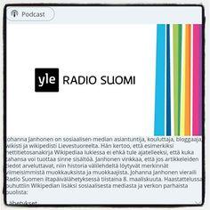 #suomikuvahaaste'en 14. päivän aihe on #media. Olen saanut nyt niin monta uutta seuraajaa että ehkä voisin jo esittäytyä. Ylen haastattelussa puhuin yhteisöistä viime vuonna. Tämän haasteen ympärillekin on pieni #yhteisö 2 viikossa syntynyt.   Jos sinä olet podcastien ystävä voit ladata haastattelun YLE Areenasta linkki kommenteissa.