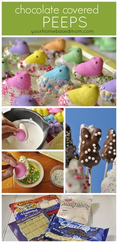 Chocolate covered Peeps pops | Find @Wilton Cake Decorating Candy Melts at Jo-Ann Stores
