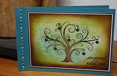 Stamps: a Lut of stamps (aLos11 een gezond nieuw jaar) – Hero Arts (K5538 Decorative Flourish Tree) – Eline's clear stamps (0132 Jingle Bells)