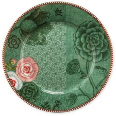 Pip Studio Spring To Life Plate - Green - Large ($14) ❤ liked on Polyvore featuring home, kitchen & dining, serveware, green, pip studio tableware, pip studio plates, everyday plates, green tableware and porcelain plates