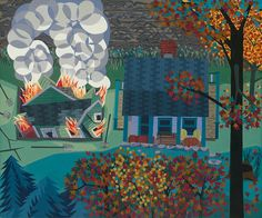 Burning Down the Second House  by Ann Toebbe. Available from 20x200.com